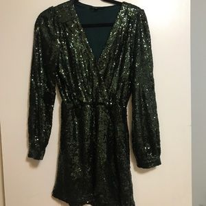 Honey Punch Dresses - Green Sequin Dress